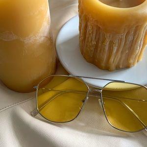 Princess Polly retro yellow sunglasses